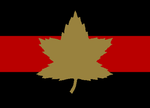 1st Canadian Armoured Brigade - The formation sign used to identify tanks and other vehicles in the 1st Canadian Armoured Brigade.