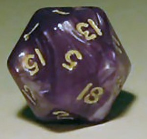 Regular icosahedron - Twenty-sided die