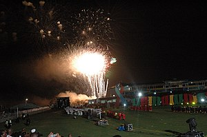 2007 Cricket World Cup - Fireworks in the opening ceremony of the 2007 Cricket World Cup
