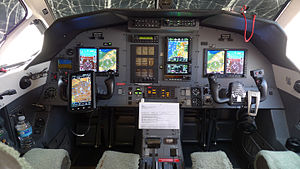 Pilatus PC-12 - PC-12 flight instruments and sub-panel, 2007