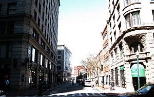 Merchants Row (Boston) - Image: 2010 Merchants Row State St Boston 22