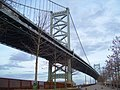 2012 Ben Franklin Bridge from Race Street Pier.jpg