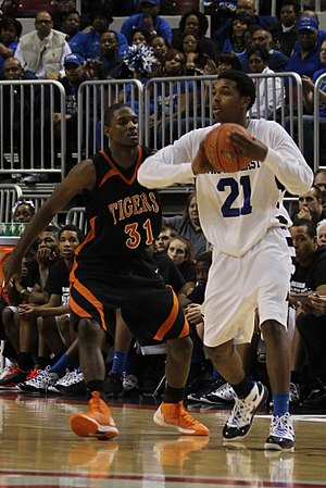 Sterling Brown (basketball) - Brown in the 2013 IHSA consolation game