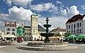 2013 Karwina, Frysztat, Żeliwna fontanna na rynku 01.jpg