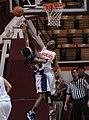 2013 Virginia Tech - Robert Morris - Uju Ugoka and a Robert Morris player go for a rebound.jpg
