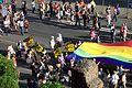 2014-06-07 Roma Pride banners and rainbow flag.jpg