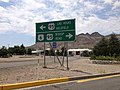 2014-07-17 12 07 08 View west along U.S. Route 6 at the junction with U.S. Route 95 about 1.9 miles east of the Esmeralda County Line in Tonopah, Nevada.JPG