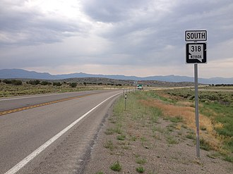 Nevada State Route 318 - First reassurance sign along southbound SR 318