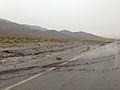 2014-07-28 14 28 12 Flooding along Nevada State Route 844 (Ione Road) about 3.5 miles east of Nevada State Route 361 (Gabbs Valley Road) in Nye County, Nevada.JPG