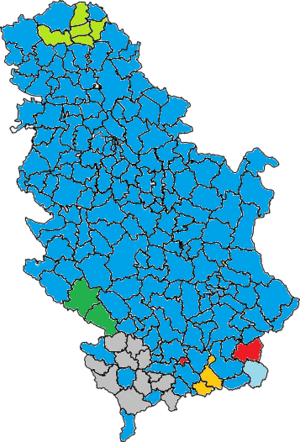2014 Serbian Parliamentary Elections Majority Map.png