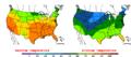 2015-10-09 Color Max-min Temperature Map NOAA.png