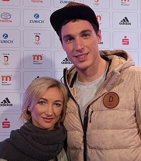 Aljona Savchenko Ukrainian-German pair skater