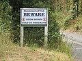 2018-07-18 Warning sign, Links Road, Mundesley.JPG