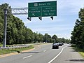2020-07-30 12 01 18 View east along Maryland State Route 43 (White Marsh Boulevard) at the exit for U.S. Route 1 SOUTH (Belair Road, Fullerton) in Overlea, Baltimore County, Maryland.jpg