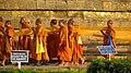 3. Religious Ceremony taking place at the Dhamek Stupa, Sarnath.jpg