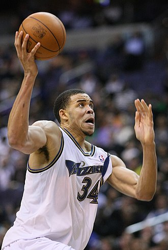 JaVale McGee - McGee with the Wizards in November 2010