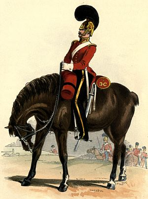 3rd Dragoon Guards - Uniform of the 3rd Dragoon Guards in 1838