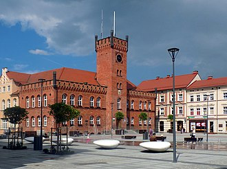 Szczecinek - Town Hall at the marketplace