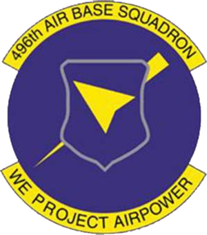 496th Air Base Squadron - Emblem of the 496th Air Base Squadron