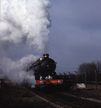 GWR 4073 Class 5029 Nunney Castle - 5029 Nunney Castle at speed, 1980s photo