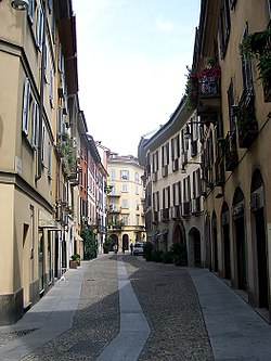 Via Madonnina, one of the main streets of Brera