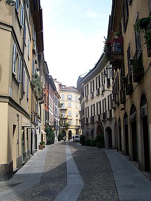 Brera (district of Milan) - Via Madonnina, one of the main streets of Brera