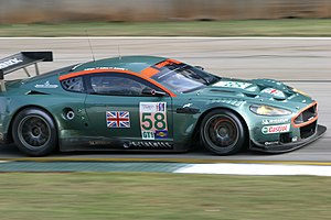 Aston Martin DBR9 - A DBR9 running in the 2005 Petit Le Mans at Road Atlanta.