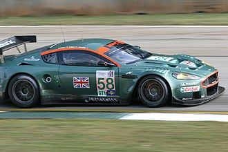British racing green - An Aston Martin DBR9, showing a modern metallic interpretation of a lighter shade of British Racing Green.