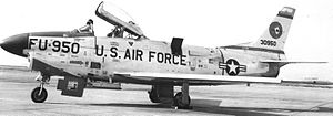 83d Fighter Weapons Squadron - North American F-86L Sabre 53-0950, at Hamilton AFB in 1957