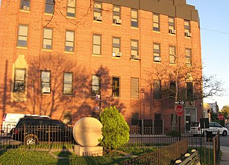 Gravesend, Brooklyn - Art Deco Verizon building at Meucci Triangle, at 86th Street and Avenue U.