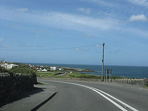 A5025 road - Image: A5025 Approaching Bull Bay geograph.org.uk 1436598