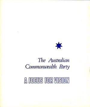 Australian Commonwealth Party - Image: ACP1
