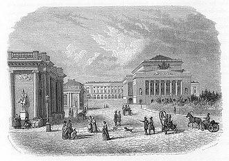 1884 in Russia - ALEXANDRINSKY THEATRE IN ST PETERSBURG