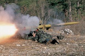 9K111 Fagot - Slovenian army soldiers launching a Fagot