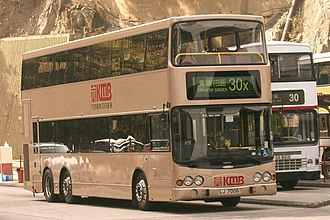 Volvo B9TL - Prototype Volvo B9TL (Volgren-bodied, as Kowloon Motor Bus AVD1) seen in service on the last day (15 December 2004) before it left temporarily for further testing.