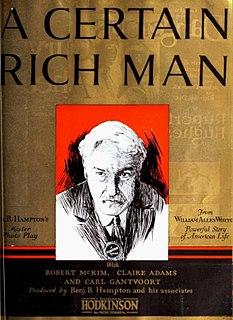 <i>A Certain Rich Man</i> 1921 silent film