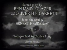 Datei:A Farewell to Arms (1932 film) title sequence.ogv
