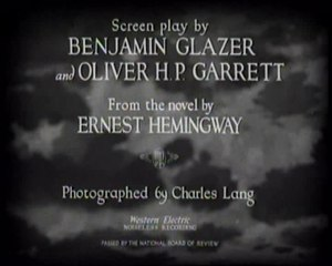ファイル:A Farewell to Arms (1932 film) title sequence.ogv