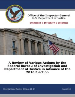 Inspector General report on FBI and DOJ actions in the 2016 election