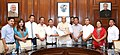 A delegation led by Mr. Chuba Ozukum, President, Naga HoHo and Ms. Abeiu Meru, President, Naga Mother's Association, calling on the Union Home Minister, Shri Rajnath Singh, in New Delhi on September 01, 2016 (1).jpg