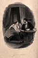A father pauses in reading to his daughter and she urges him Wellcome V0038775.jpg