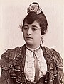 A female bullfighter, with flowers in her ha Wellcome L0032382.jpg
