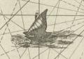 A galley West of Gilolo Kaart van enige eilanden van de Molukken Moluccae insulae celeberrimae.png