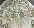 A gravestone with a crown, St Columba's, Stewarton, East Ayrshire, Scotland.jpg