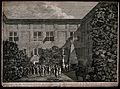 A man is scourged in the backyard of a house of correction i Wellcome V0041724.jpg