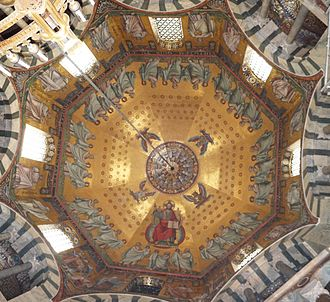 History of Medieval Arabic and Western European domes - The Palatine Chapel in Aachen.