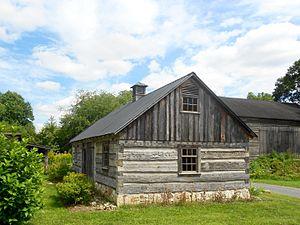 Aaronsburg Historic District - Image: Aaronsburg PA log house