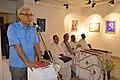Abhoy Nath Ganguly Addressing - Biswatosh Sengupta Solo Exhibition Inauguration - Kolkata 2015-07-28 3168.JPG