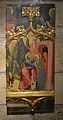 Abraçada davant la Porta Daurada, mestre del retaule de la santa Creu o Miquel Alcanyís, museu catedralici de Sogorb.JPG