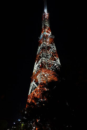 ABS-CBN Broadcasting Center - Millennium Transmitter at night.